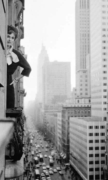 Photo of Babe Paley at the Saint Regis Hotel in NYC, 1957