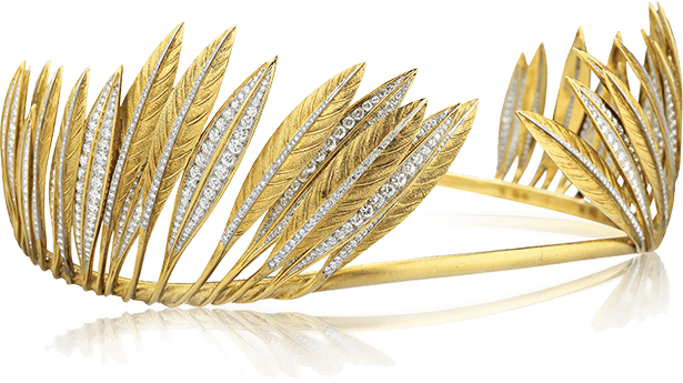 Feather Headdress Tiara made by Fulco di Verdura for Betsey Whitney, 1956